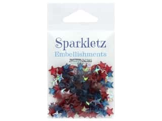 Buttons Galore Sparkletz - Patriotic Stars (3 ounces)