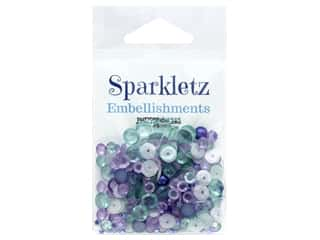 Buttons Galore Sparkletz - Sailors Sky (3 ounces)