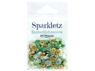 craft & hobbies: Buttons Galore Embellishments Sparkletz 15 gm Coconut Palms (3 ounces)