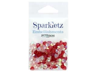 Buttons Galore Embellishments Sparkletz 15 gm Love Hearts (3 ounces)
