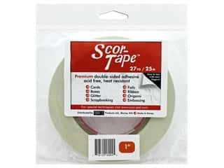 glues, adhesives & tapes: Scor-Pal Scor-Tape Double Sided Adhesive 1 in. x 27 yd.