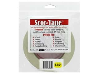 glues, adhesives & tapes: Scor-Pal Scor-Tape Double Sided Adhesive 1 1/2 in. x 27 yd.