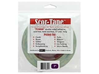 glues, adhesives & tapes: Scor-Pal Scor-Tape Double Sided Adhesive 2 in. x 27 yd.