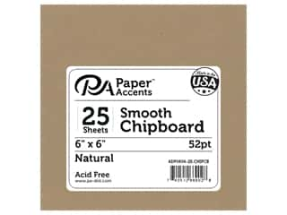 scrapbooking & paper crafts: Paper Accents Chipboard 6 x 6 in. 52 pt. Extra Heavy Natural 25 pc.