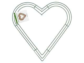 Wreaths: FloraCraft Wire Wreath Form 16 in. Heart