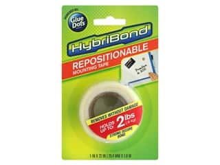 glues, adhesives & tapes: Glue Dots Mounting Tape Hybribond Repositionable 1 in. x 72 in.