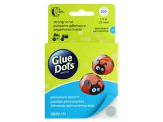 glues, adhesives & tapes: Glue Dots Permanent 1/2 in. Box 200 pc