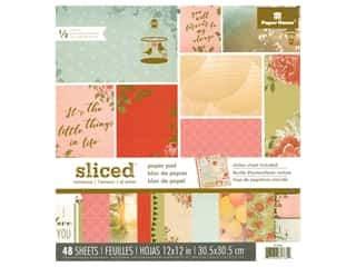 Clearance: Paper House Paper Pad 12 in. Sliced Romance