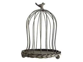 decorative bird: Sierra Pacific Metal Tabletop Birdcage 7.75 in. x 11.75 in. Gray