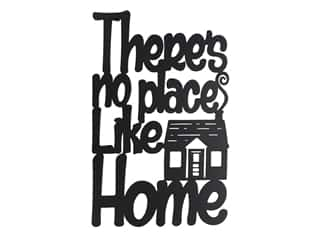 novelties: Sierra Pacific Wall Art Plaque No Place Like Home 7.5 in. x 12 in. Black