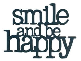 novelties: Sierra Pacific Wall Art Plaque Smile & Be Happy 9.75 in. x 7.25 in. Navy