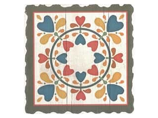Graphic Impressions Barn Quilts Coaster Folk Hearts And Flowers (6 pieces)