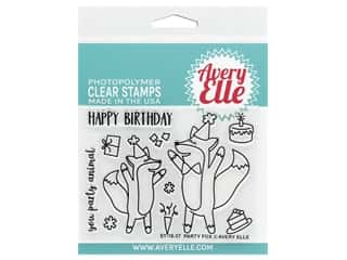 scrapbooking & paper crafts: Avery Elle Clear Stamp Party Fox