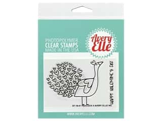 Avery Elle Clear Stamp Peacock