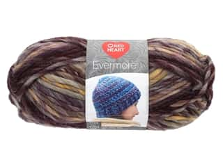 yarn & needlework: Coats & Clark Red Heart Evermore Yarn 3.5 oz Mulberry (3 skeins)