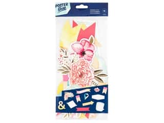 scrapbooking & paper crafts: American Crafts Collection Poster Shop Ephemera Floral
