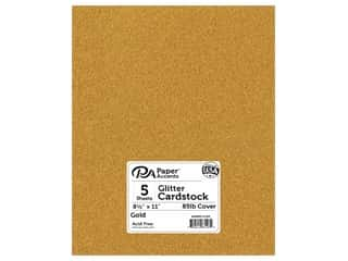 Paper Accents Glitter Cardstock 8 1/2 x 11 in. #G10 Gold 5 pc.