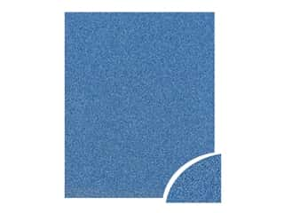 scrapbooking & paper crafts: Paper Accents Glitter Cardstock 22 in. x 28 in. #G07 Jewel Blue (10 pieces)