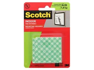 glues, adhesives & tapes: Scotch Mounting Squares Heavy Duty 1 in. 16 pc