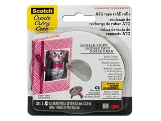 glues, adhesives & tapes: Scotch Advanced Tape Glide 1/4 in. x 36 yd. Refill Acid Free 2 pc.