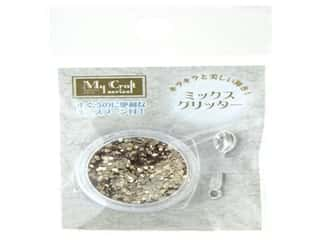 beading & jewelry making supplies: Resinate Glitter Mix Gold 2 gm