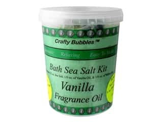 craft & hobbies: Crafty Bubbles Bath Sea Salt Kit Vanilla
