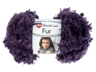 Coats & Clark Red Heart Fur 3.5 oz Eggplant 11 yd (3 skeins)