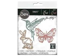Sizzix Tim Holtz Thinlits Die Set 3 pc. Geo Springtime