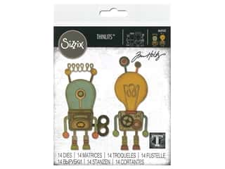 Sizzix Tim Holtz Thinlits Die Set 14 pc. Robotic