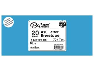 4 x 9 1/4 in. Letter Envelopes by Paper Accents 25 pc. #103 Blue