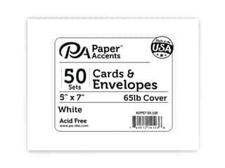 Paper Accents 5 x 7 in. Blank Card & Envelopes 50 pc. #128 White
