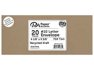 scrapbooking & paper crafts: Paper Accents 4 x 9 1/4 in. Letter Envelopes 20 pc. Recycled Kraft