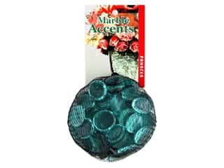 decorative floral: Panacea Decorative Accents Glass Gems 12 oz Teal