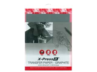 X-Press it Transfer Paper 8.5 in. x 11 in. Graphite 20 pc