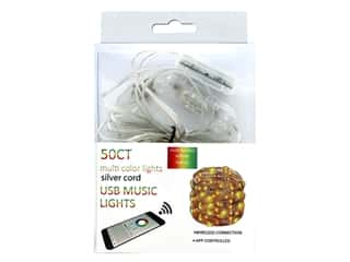 Sierra Pacific Crafts Lights LED 50 ct USB Music Silver/Multi