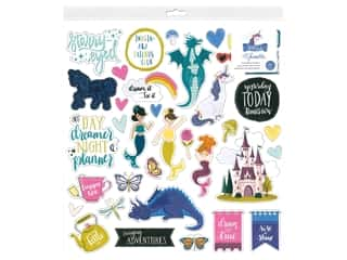 American Crafts Collection Shimelle Head In The Clouds Sticker 12 in. x 12 in. Chipboard