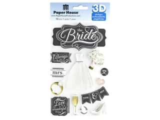 Paper House 3D Stickers - The Bride