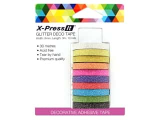 X-Press it Deco Tape Glitter .25 in. x 3 yd 10 pc