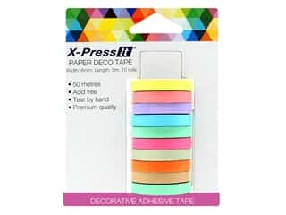 X-Press it Deco Tape Paper .25 in. x 3 yd 10 pc