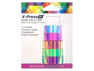 X-Press it Deco Tape Pearl .5 in. x 3 yd 5 pc