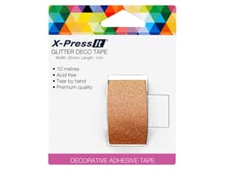 X-Press it Deco Tape Glitter 1 in. x 11 yd Copper