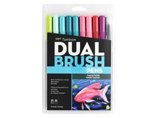 Tombow Dual Brush Pen Set Tropical 10 pc