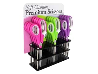 "Allary Scissors 8.5"" Premium Soft Cushion POP 12pc (12 pieces)"