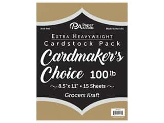 kraft card stock: Paper Accents Cardstock 8 1/2 x 11 in. Cardmakers Choice Grocers Kraft 15 pc.