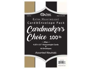 Paper Accents Cardmakers Choice 41/4 x 5 1/2 in. Blank Card & Envelopes 100 lb. Neutrals 20 pc.