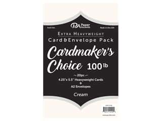 Paper Accents Cardmakers Choice 41/4 x 5 1/2 in. Blank Card & Envelopes 100 lb. Cream 20 pc.
