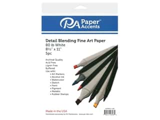 Paper Accents Cardstock 8 1/2 x 11 in. #85 Detail Blending White 80 lb 5 pc.