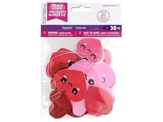 craft & hobbies: Darice Foamies Sticker Bag Hearts