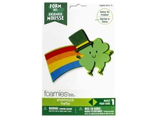craft & hobbies: Darice Foamies Kit Shamrock Rainbow
