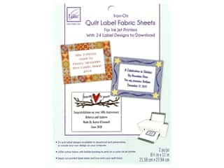 June Tailor Quilt Label Inkjet Fabric Sheets 2 pc. White